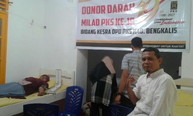 Emrizal Donor Darah PKS