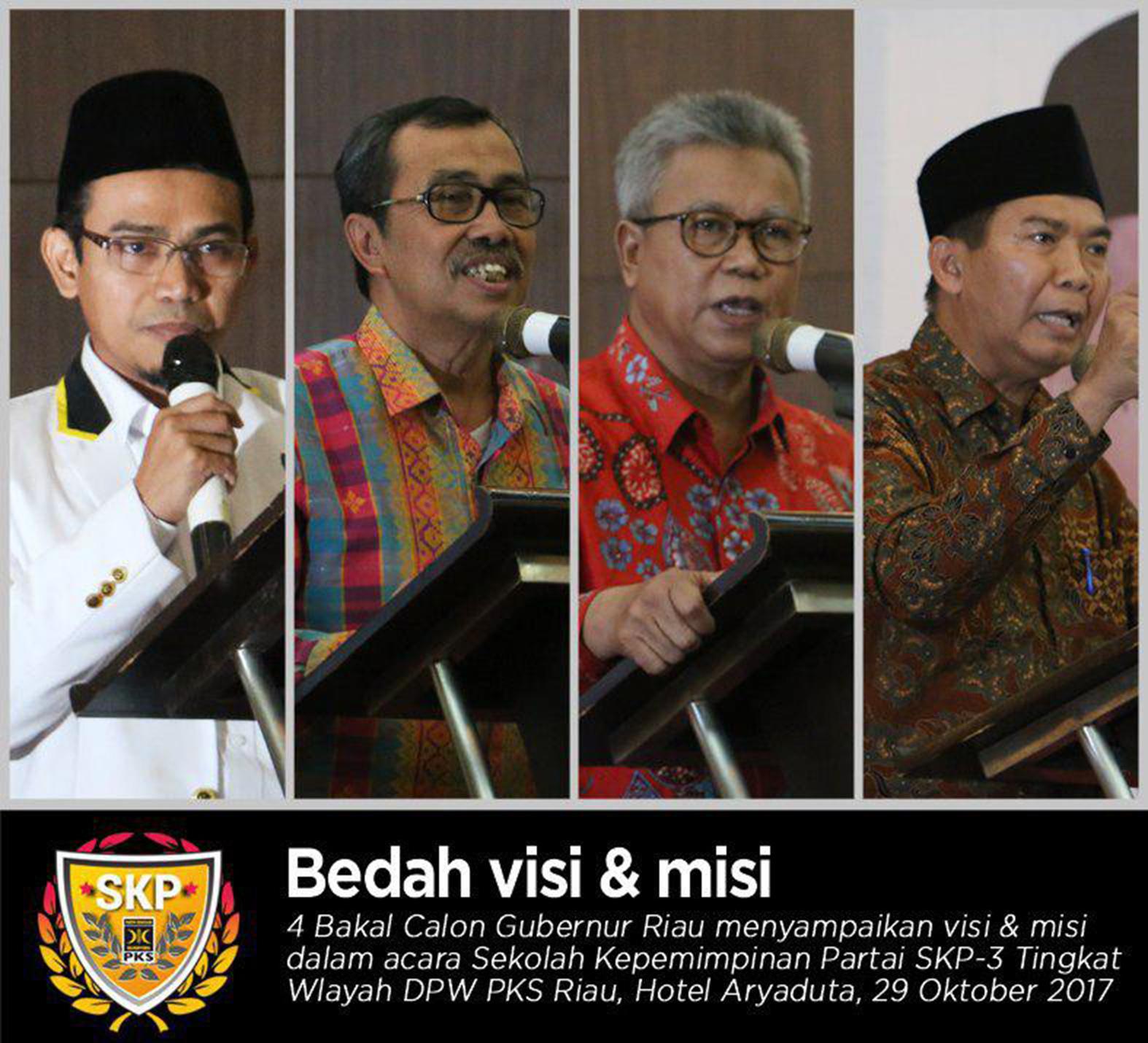 DPW PKS RIAU BEDAH VISI MISI BALON GUBERNUR RIAU 2018